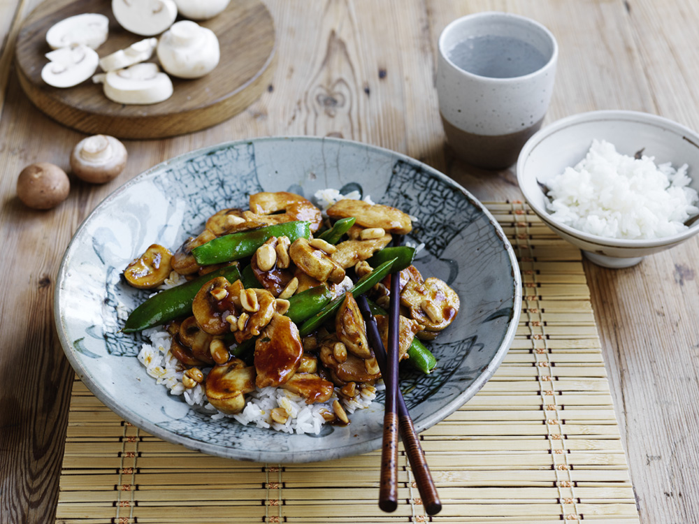 Hoisin Mushroom And Chicken Stir Fry Australian Mushrooms