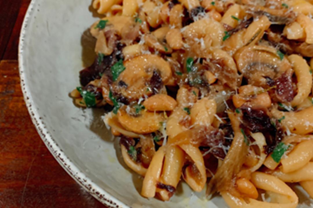 Cavatelli with Braised Mushrooms, Beans and Radicchio