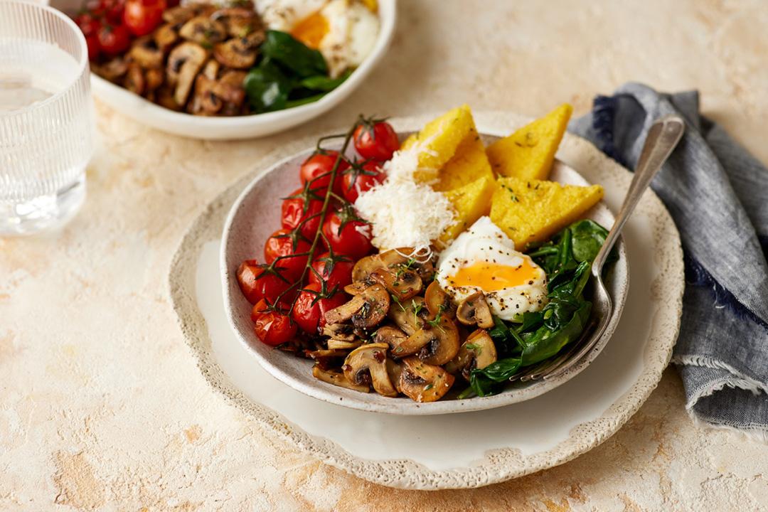 Mushroom breakfast bowl