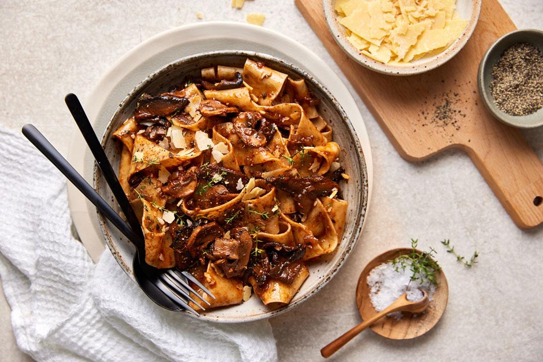 Pappardelle with Mushroom Ragu