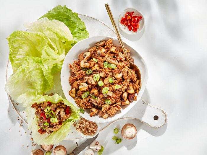 Mushroom and Pork San Choy Bow