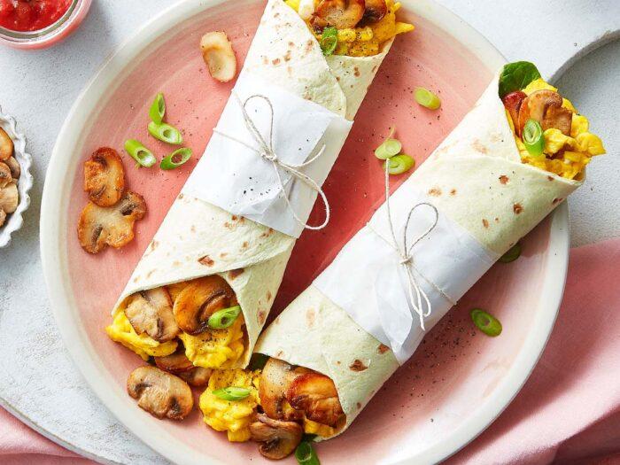 Mushroom Breakfast Wrap