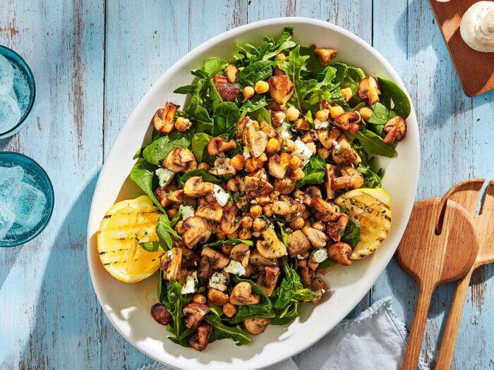 Mushroom and Chickpea Salad